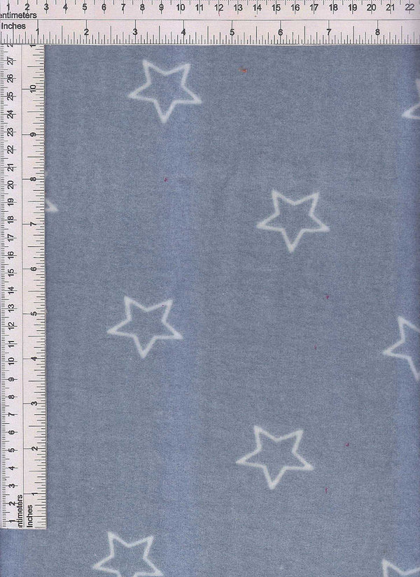 KNT4163-DU1920 -DENIM/IVORY STAR PRINT KNIT