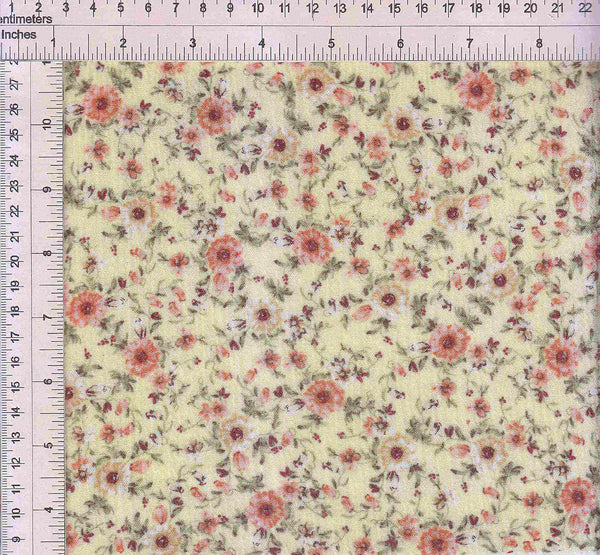 CRP3143-SE40515 -YELLOW DITSY, FLOWER, FLORAL PRINT WOVEN