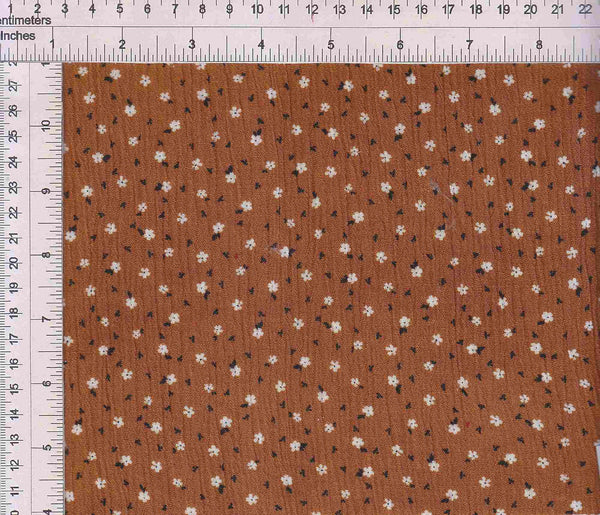 CRP3143-Q91001 -RUST DITSY, FLOWER, FLORAL PRINT WOVEN