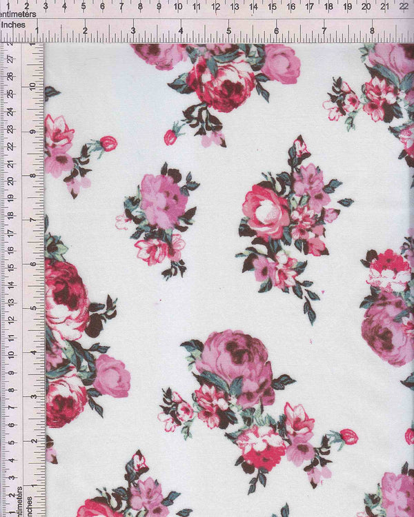 POP948-Q91108 -IVORY FLOWER, FLORAL PRINT WOVEN