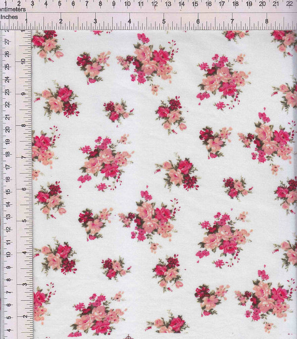 POP948-SE40888 -PINK DITSY, FLOWER, FLORAL PRINT WOVEN