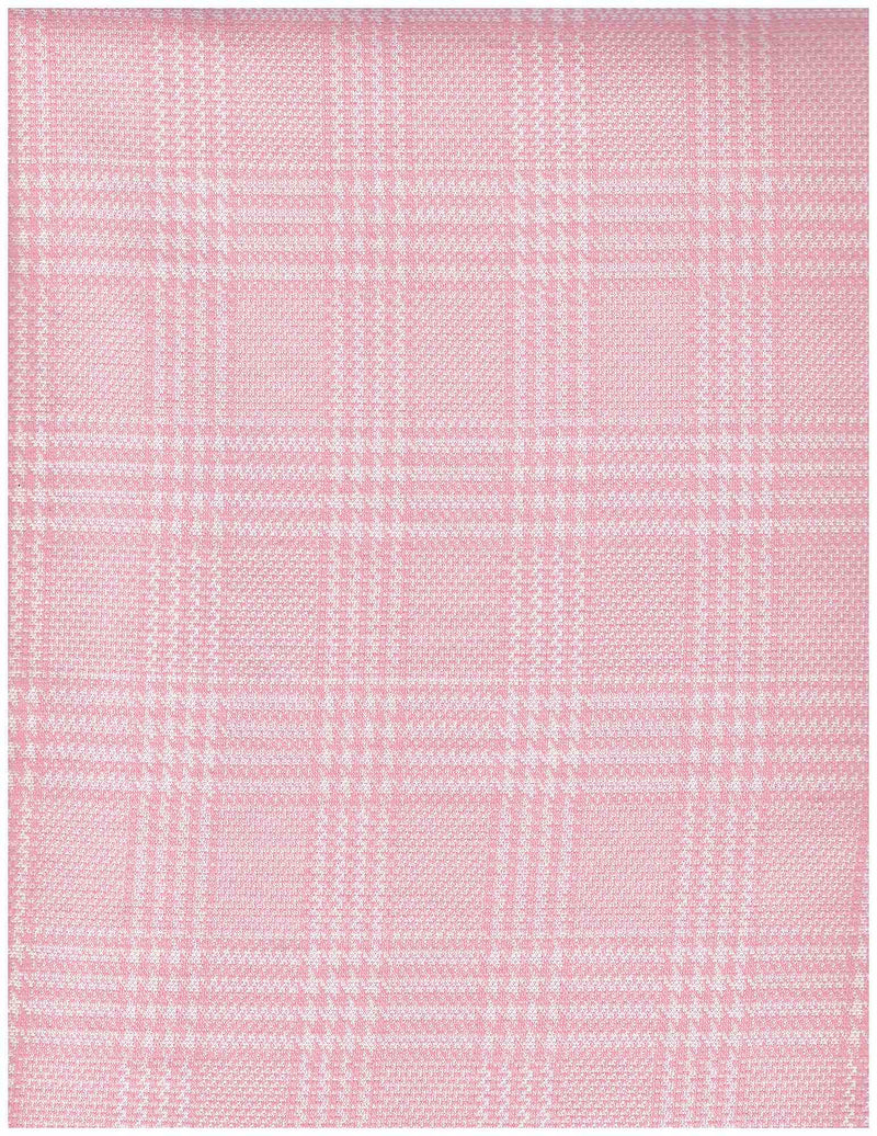 KNT3910 -PINK/WHITE  YARN DYED KNIT