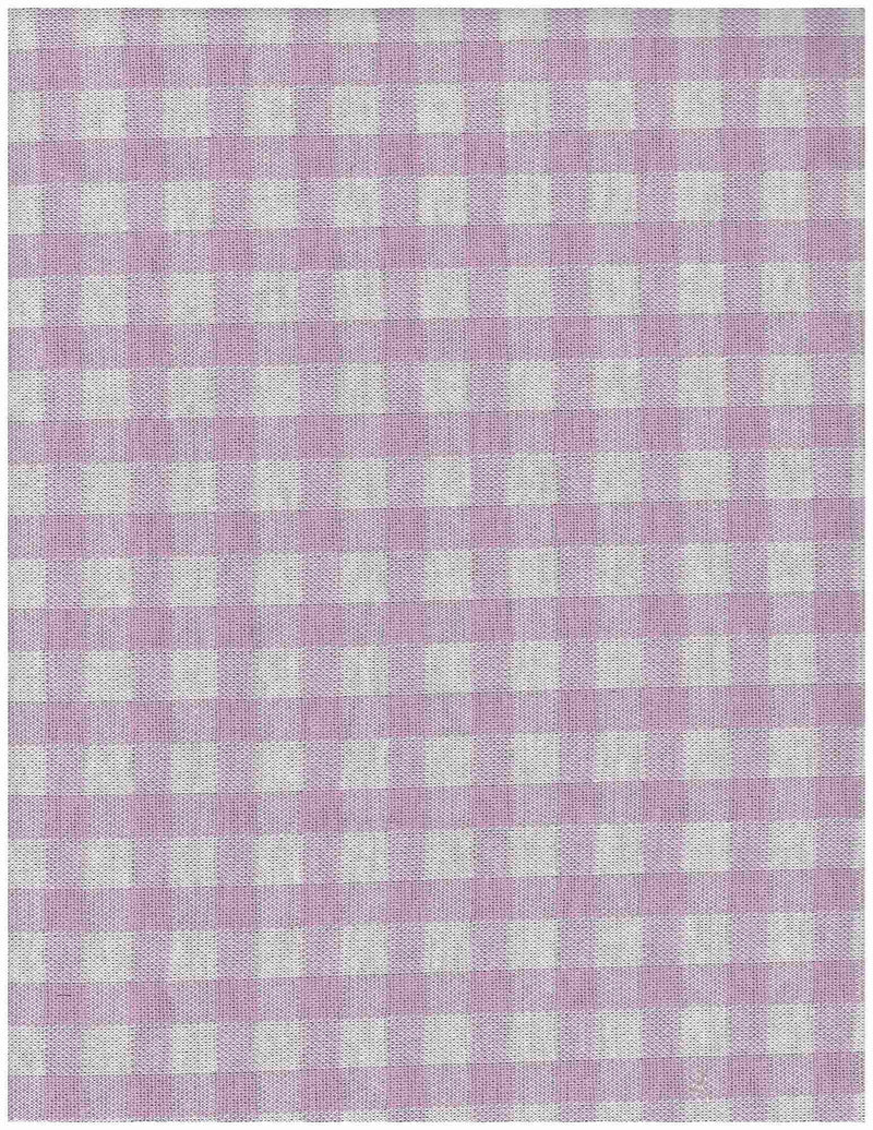 KNT3960 -WHITE/LAVENDER  SOLID, YARN DYED KNIT