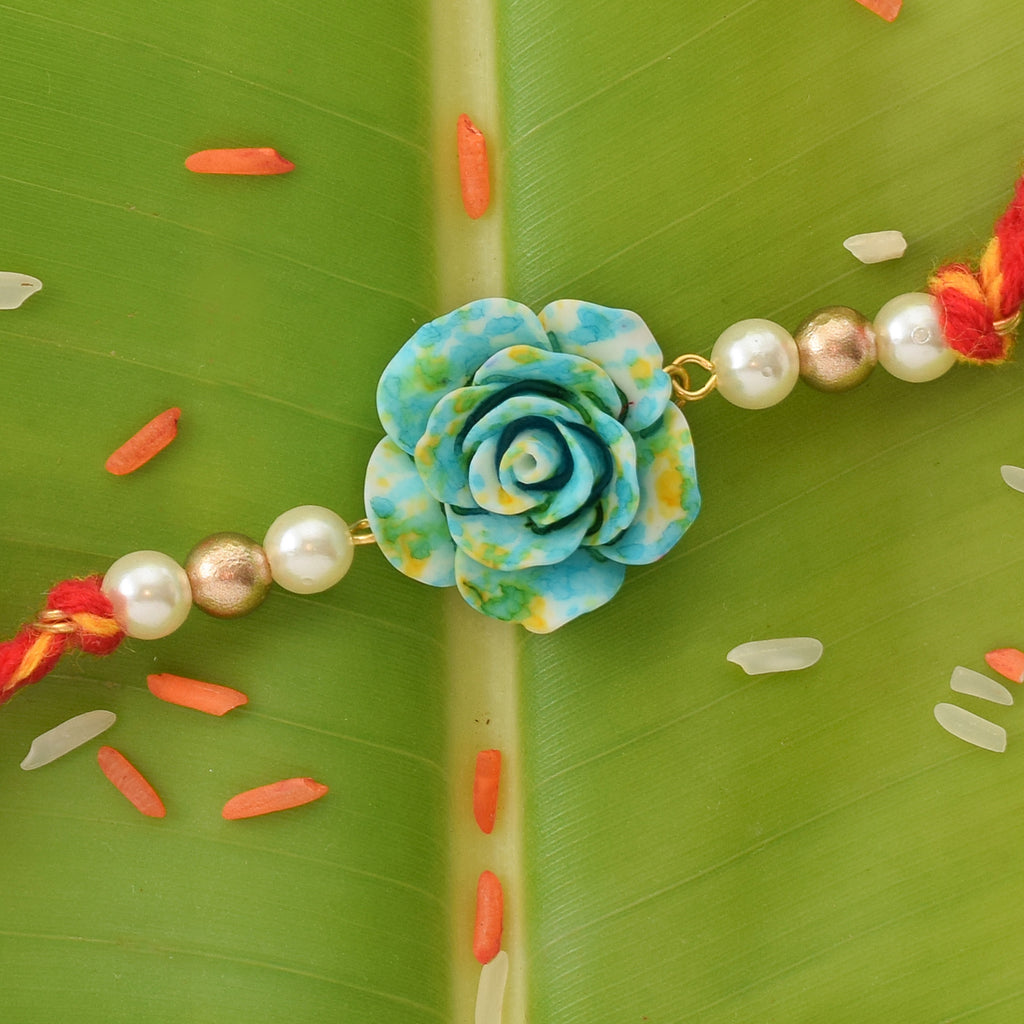 GREEN ROSE RAKHI
