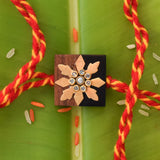 WOODEN SQUARE RAKHI