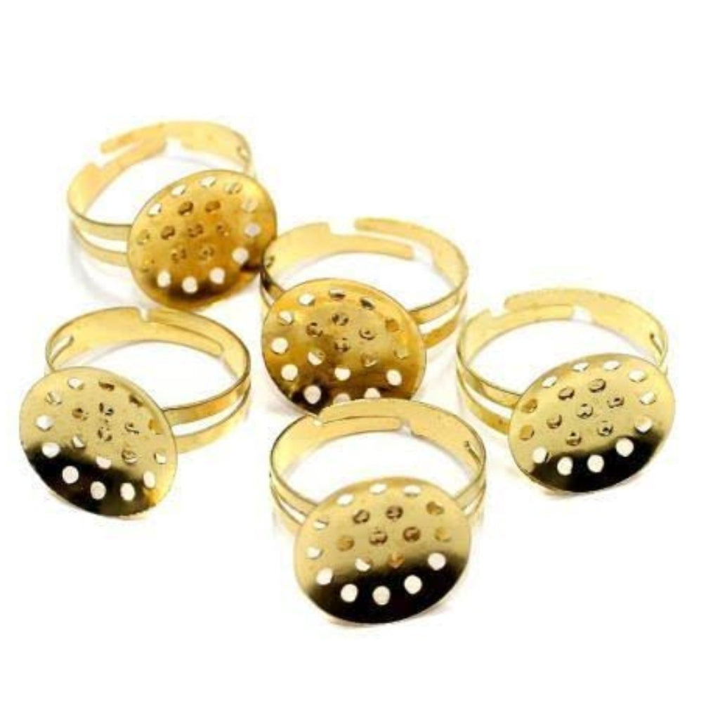 RING BASE Gold - pack of 20