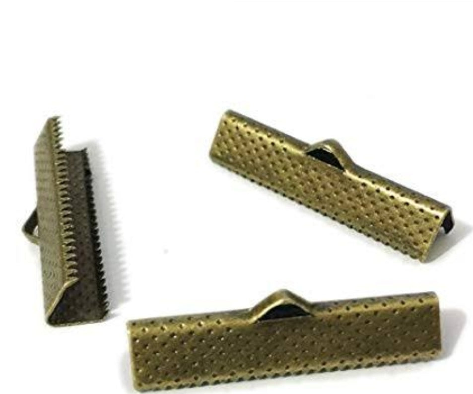 CRIMP CLASP Gold 2.5 cms- pack of 15
