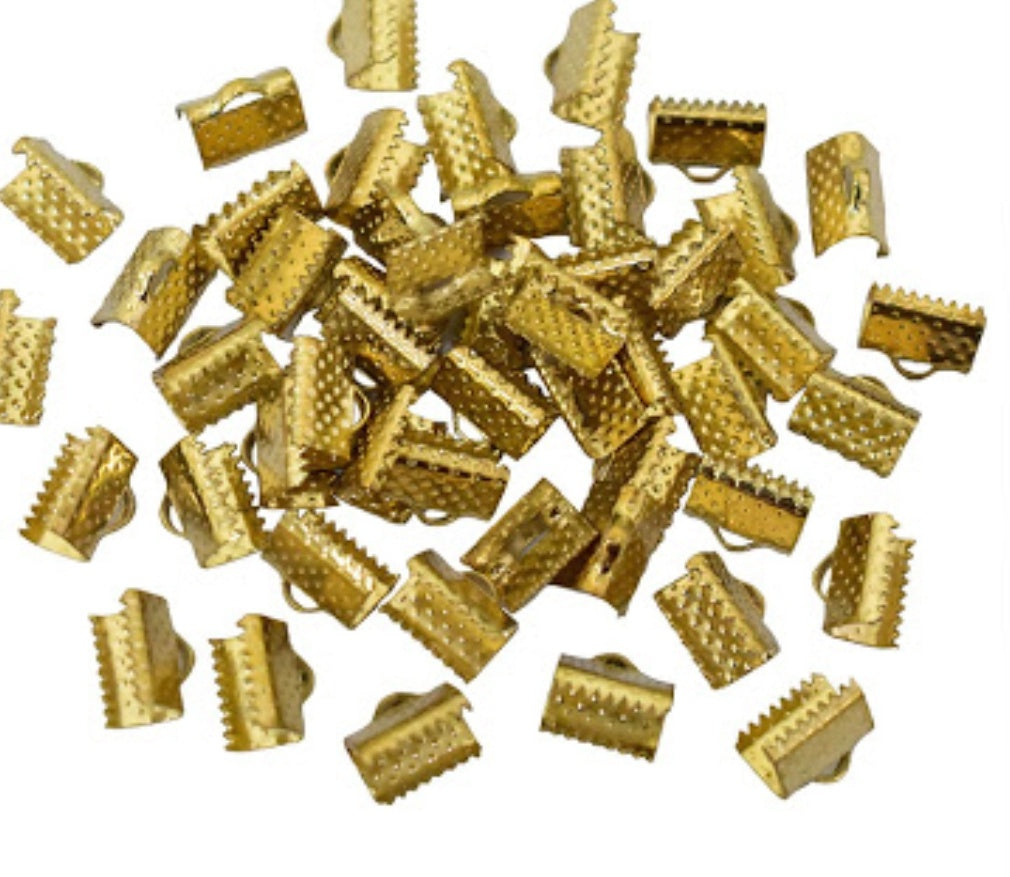 CRIMP CLASP Gold 2 cms- pack of 20