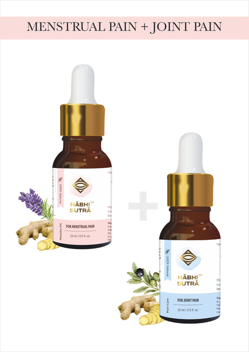 Menstrual Pain Relief & Joint Pain Relief Belly Button Oils