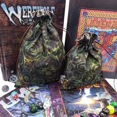 Custom Deep Woods Dice Bag