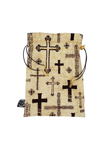 Large Paladin Crosses Dice Bag