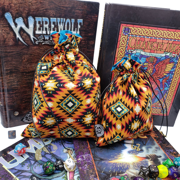 Large Southwest Diamonds Dice Bag