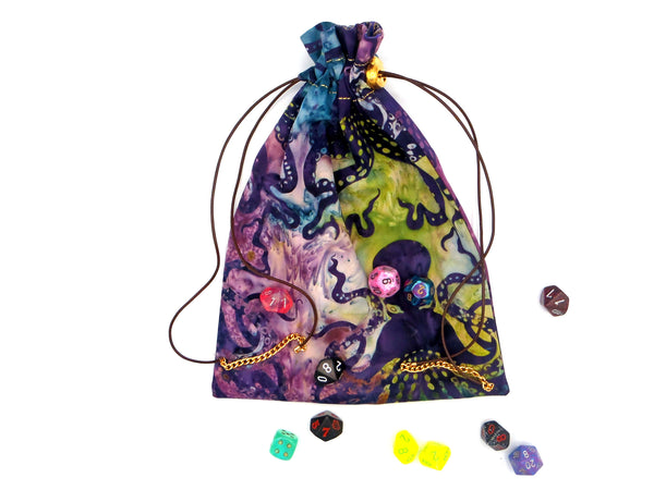 Large Toxic Ocean Dice Bag