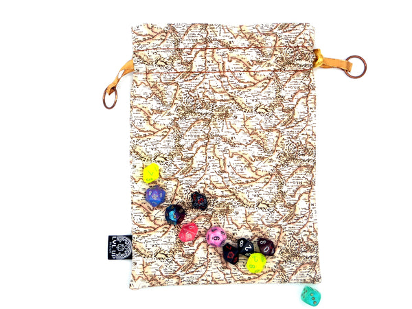 Large Traveler's map Dice Bag