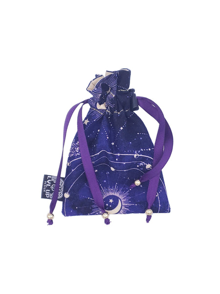 Small Purple Constellation Dice Bag