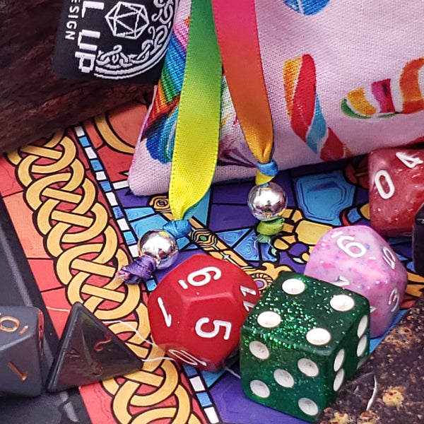 Medium Pink Sugar Sweet Dice Bag