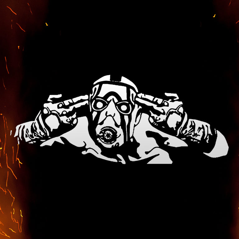 Borderlands Psycho Vinyl Sticker