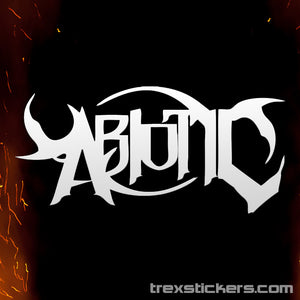 Abiotic Vinyl Sticker