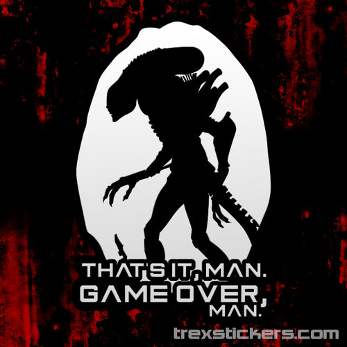 Alien Game Over Man Vinyl Sticker