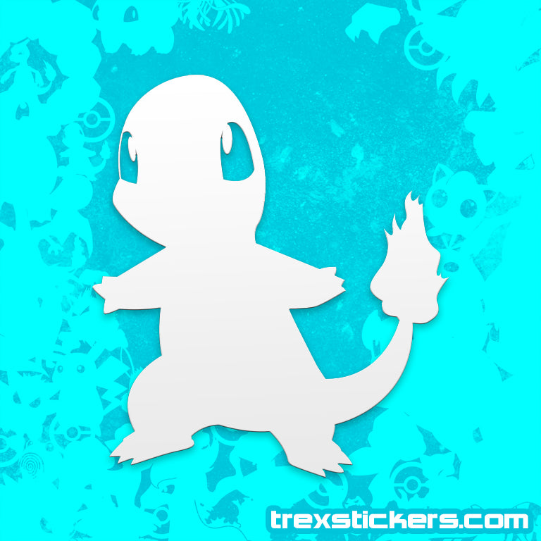 Charmander Pokemon Vinyl Sticker