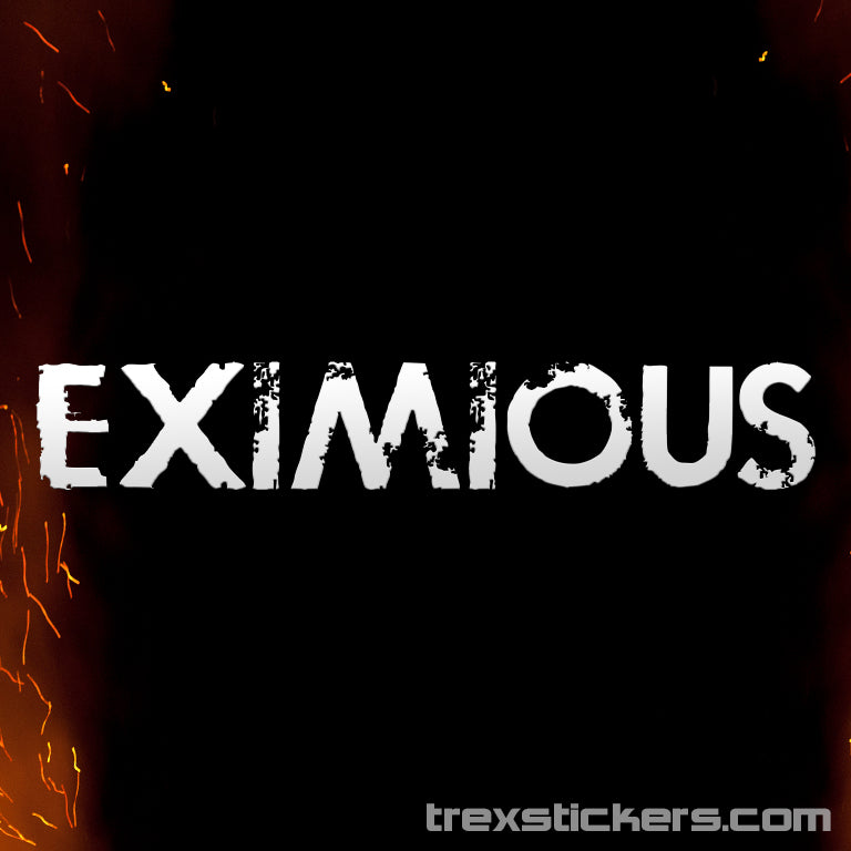 Eximious Vinyl Sticker