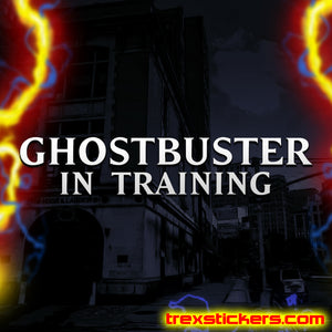 Ghostbuster In Training Vinyl Sticker