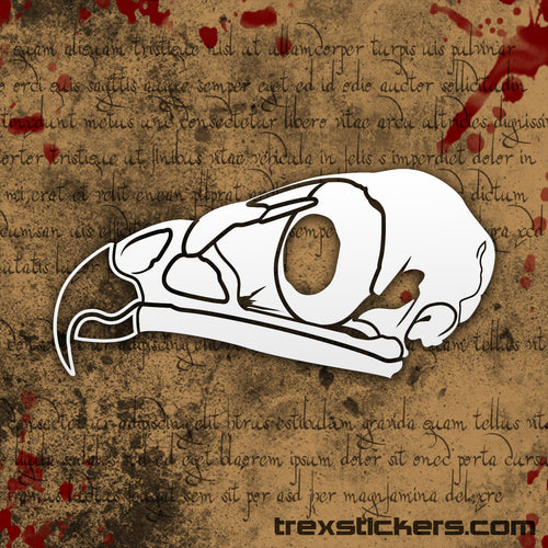 Hawk Skull Vinyl Sticker