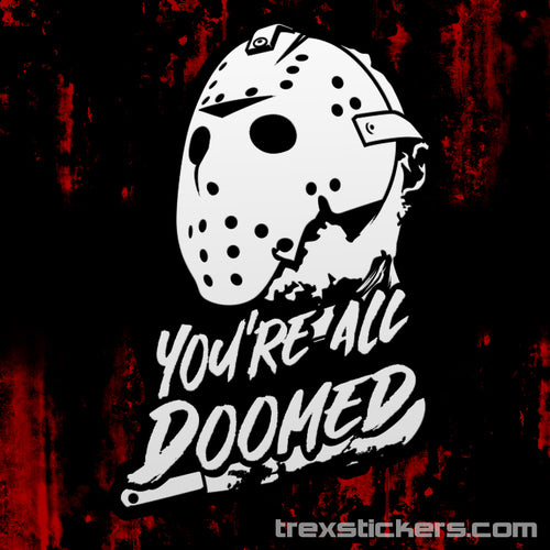 Friday the 13th Jason Vinyl Sticker