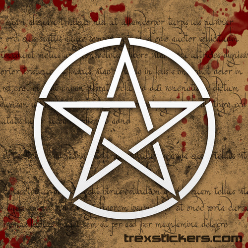 Pentagram Vinyl Sticker