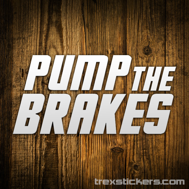 Pump The Brakes Letterkenny Vinyl Sticker