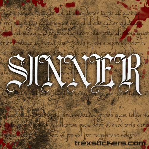 Sinner Vinyl Sticker