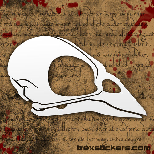 Sparrow Skull Vinyl Sticker