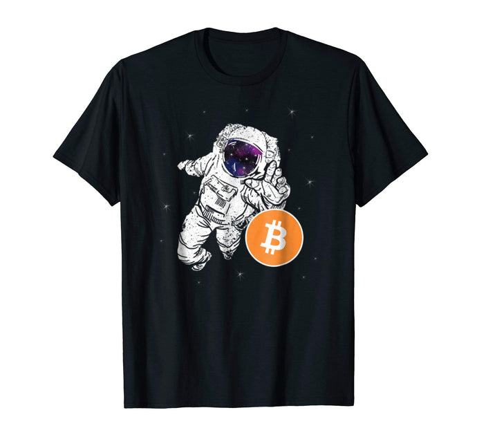 Astronaut Reaching For Bitcoin T Shirt