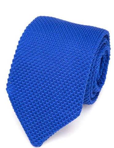 Cravate tricot bleu roi cravate Le Bar à Cravates®