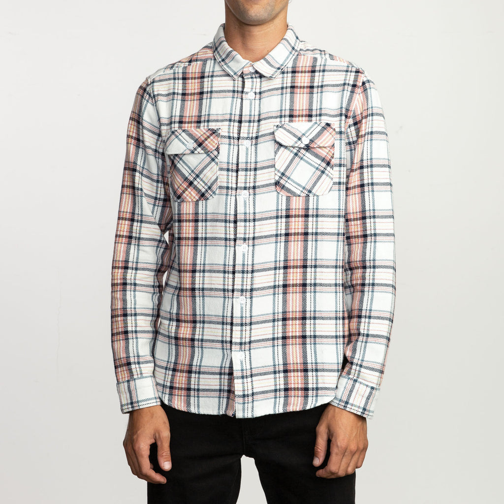 RVCA - Avett Flannel Shirt - SUB6 LIFE - SURF SCHOOL AND SURF LESSONS PORTRUSH