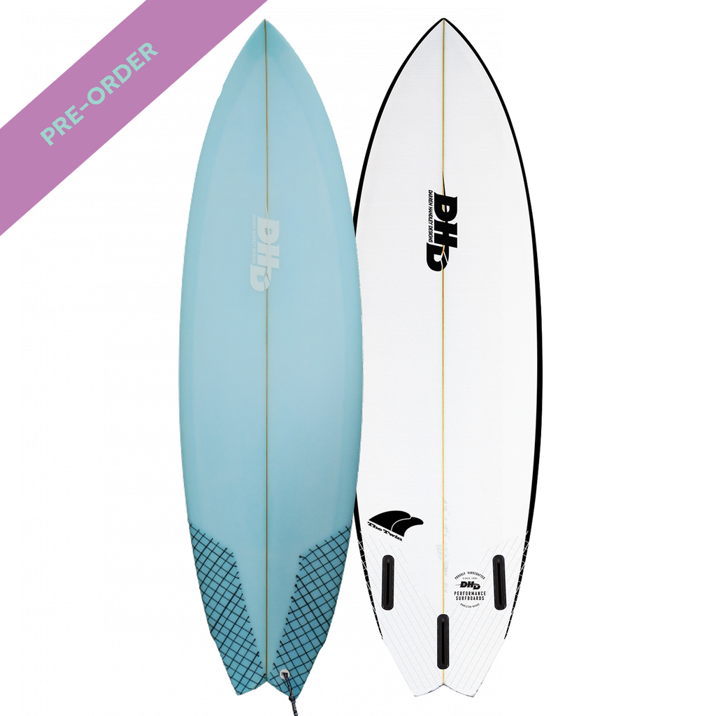 DHD - Summer Series Twin Fin Blue Tint - SUB6 LIFE - SURF SCHOOL AND SURF LESSONS PORTRUSH