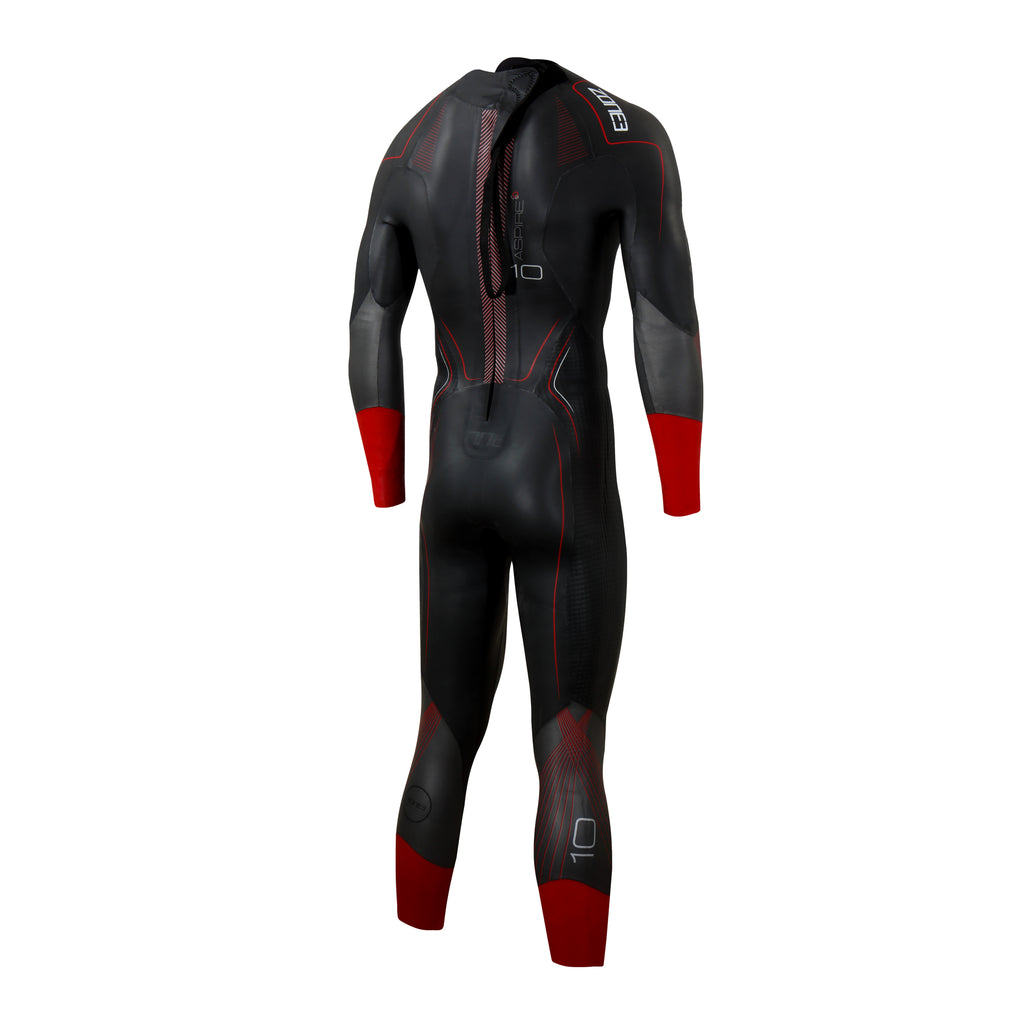 Zone 3 - Aspire 2021 Wetsuit - Mens - Black/Gun Metal/Red