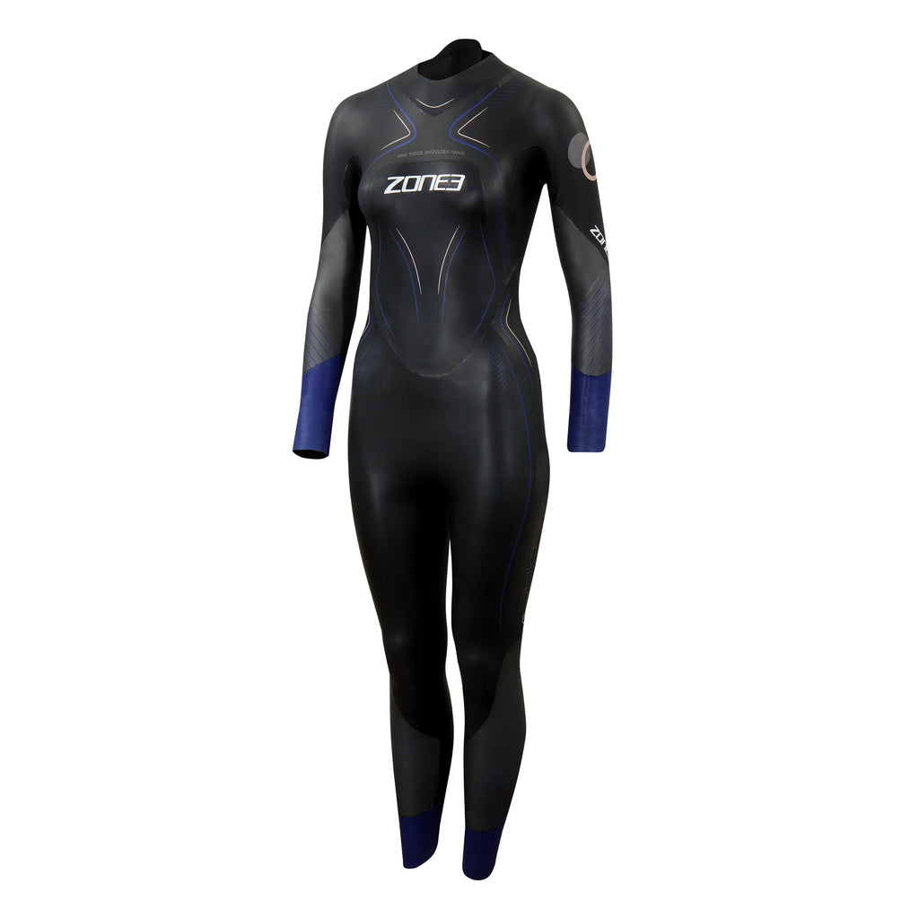 Zone 3 - Aspire Wetsuit 2021 - Womens - Black/Gun Metal/Purple
