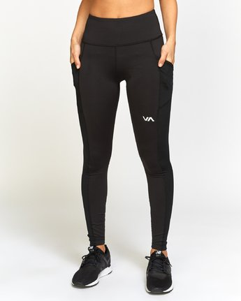 RVCA - Atomic Leggings (Black Ecilpse) - SUB6 LIFE - SURF SCHOOL AND SURF LESSONS PORTRUSH