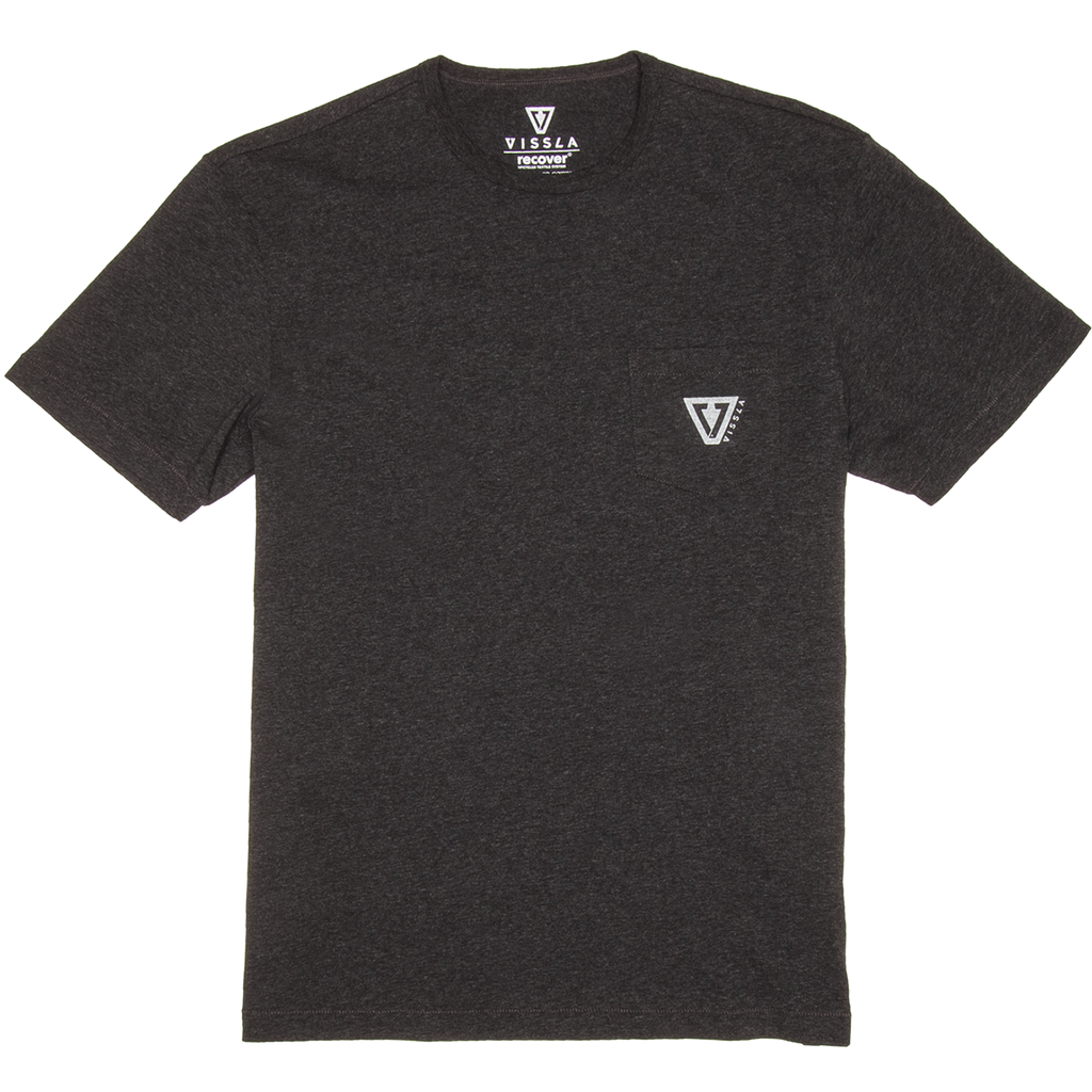 Vissla - Upcycled Established Black Heather Tee - SUB6 LIFE - SURF SCHOOL AND SURF LESSONS PORTRUSH