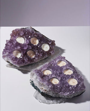 Grand Illume Amethyst Candle Holder