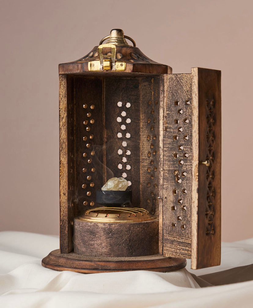 Wooden Temple Incense Tower