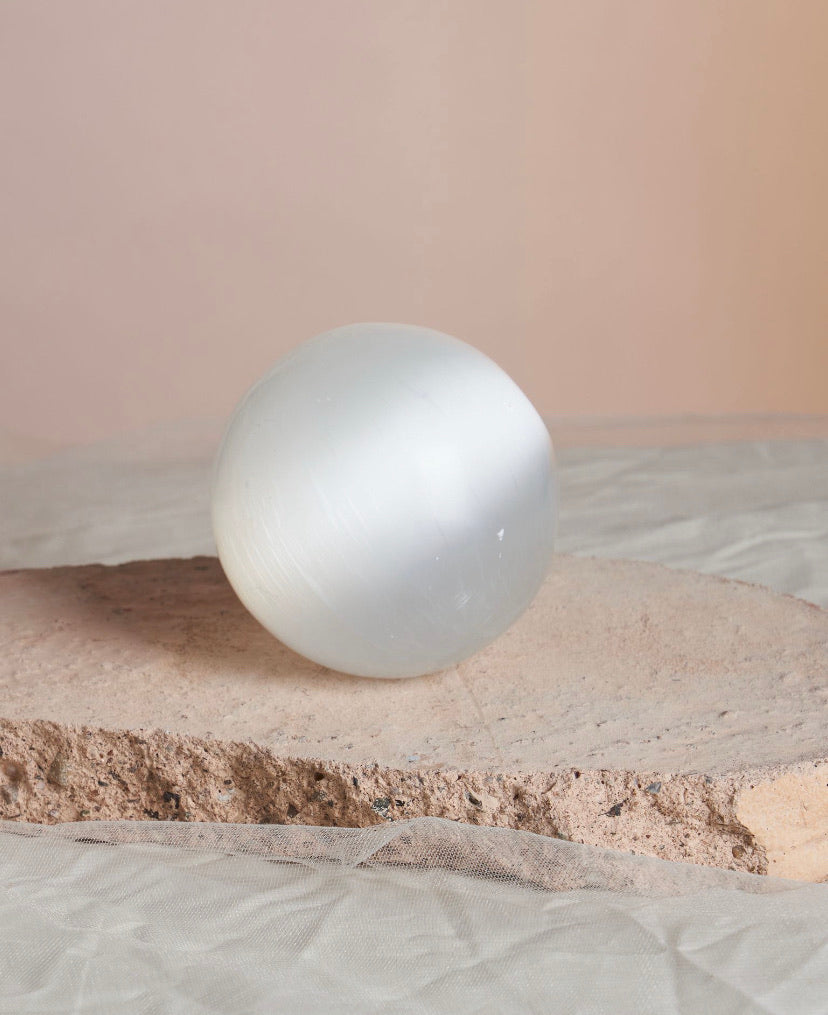 Full Moon Selenite Sphere