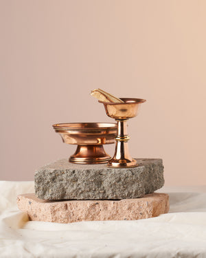 Chebe Copper Offering Bowl Set