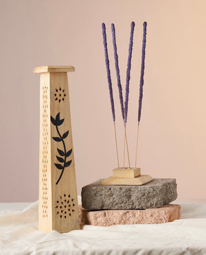 Floral Carved Incense Tower