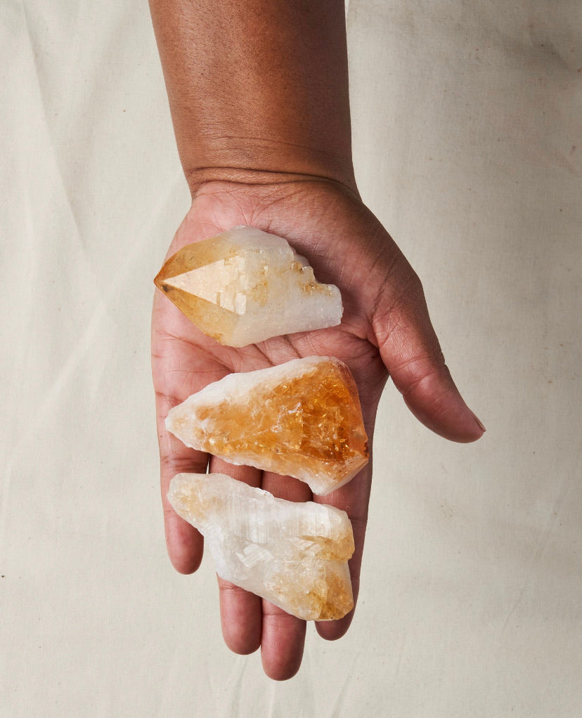 Raw Citrine Crystal for Manifestation + Motivation