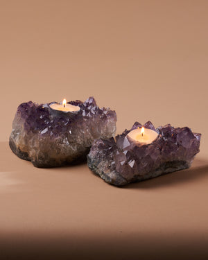 Amethyst Candle Holder