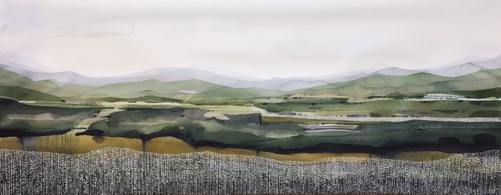 Hillside _ Watercolour - SOLD.  Commissions available