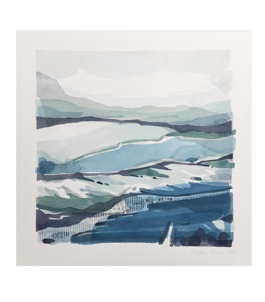 Stefan Gevers -Winterscapes 2- Small Watercolour
