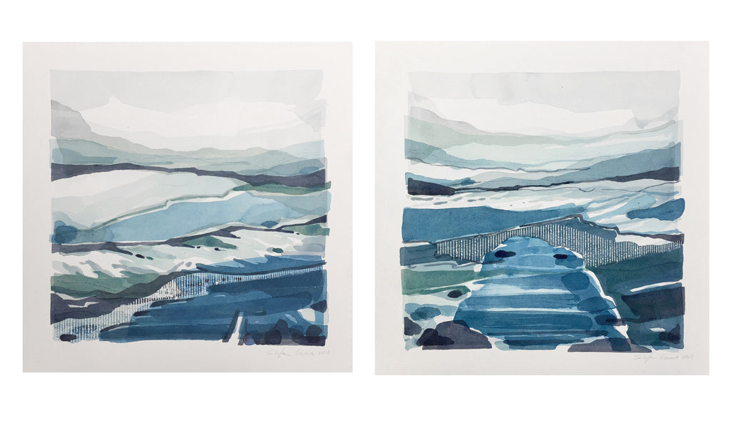 Stefan Gevers -Winterscapes Duo- Small Watercolour